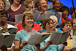 Members of the Assembly Choir which performed during an April 27, 2014, worship service at the United Methodist Women's Assembly in Louisville, Kentucky.