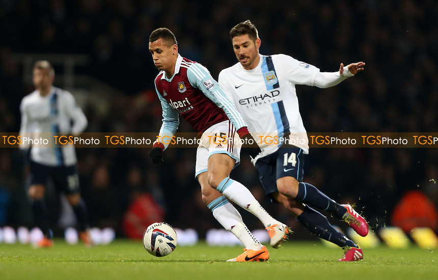 Ravel Morrison of West Ham - West Ham United vs Manchester City, Capital One Cup Semi-Final, 2nd Leg at Upton Park, West Ham - 21/01/14 - MANDATORY CREDIT: Rob Newell/TGSPHOTO - Self billing applies where appropriate - 0845 094 6026 - contact@tgsphoto.co.uk - NO UNPAID USE