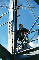 Telecommunication tower maintenance.<br />