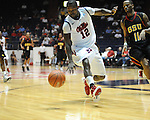 "Ole Miss' Maurice Aniefiok (12) during the first half at the C.M. ""Tad"" Smith Coliseum in Oxford, Miss. on Monday, November 14, 2011.."
