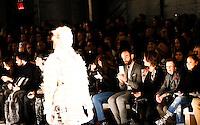 A model displays a creation by Spain designer Custo Barcelona during the New York Fashion Week 2015 in New York. 15.12.2015. Eduardo Munoz Alvarez/VIEWpress.