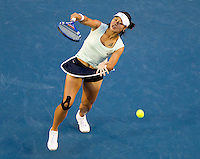 Li Na (CHN) (9) against Kim Clijsters (BEL) (3) in the Finals of the women's singles. Kim Clijsters beat Li Na 3-6 6-3 6-3..International Tennis - Australian Open  -  Melbourne Park - Melbourne - Day 13 - Sat 29th January 2011..© Frey - AMN Images, Level 1, Barry House, 20-22 Worple Road, London, SW19 4DH.Tel - +44 208 947 0100.Email - Mfrey@advantagemedianet.com.Web - www.amnimages.photshelter.com