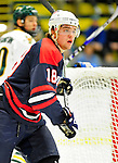 29 December 2010: The 2011 U.S. Men's National University Team's Grant Gorczyca, a forward attending Lindenwood University, in action against the University of Vermont Catamounts in an exhibition game at Gutterson Fieldhouse in Burlington, Vermont. The Catamounts defeated the National team 7-1. Mandatory Credit: Ed Wolfstein Photo