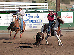 The Last Minute Cattle team competes in the team roping event at the Minden Ranch Rodeo on Saturday, July 21, 2012..Photo by Cathleen Allison