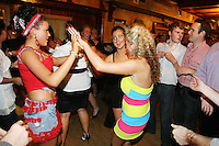 3/10/2010. Traveler girls are pictured on the dance floor at Haydons Hotel. The only Hotel in Ballinasloe that serves travelers alcohol. Picture James Horan