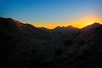 The sun setting over the San Tan Mountains - San Tan Regional Park, Queen Creek, AZ