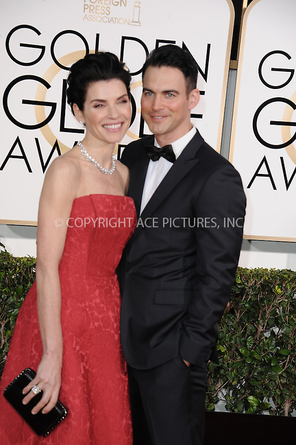 WWW.ACEPIXS.COM<br /> <br /> January 11 2015, LA<br /> <br /> Actress Julianna Margulies (L) and Keith Lieberthal arriving at the 72nd Annual Golden Globe Awards at The Beverly Hilton Hotel on January 11, 2015 in Beverly Hills, California. <br /> <br /> <br /> By Line: Peter West/ACE Pictures<br /> <br /> <br /> ACE Pictures, Inc.<br /> tel: 646 769 0430<br /> Email: info@acepixs.com<br /> www.acepixs.com