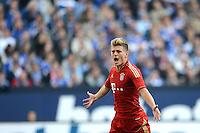 FUSSBALL   1. BUNDESLIGA  SAISON 2012/2013   4. Spieltag FC Schalke 04 - FC Bayern Muenchen      22.09.2012 Jubel nach dem Tor Toni Kroos (FC Bayern Muenchen)