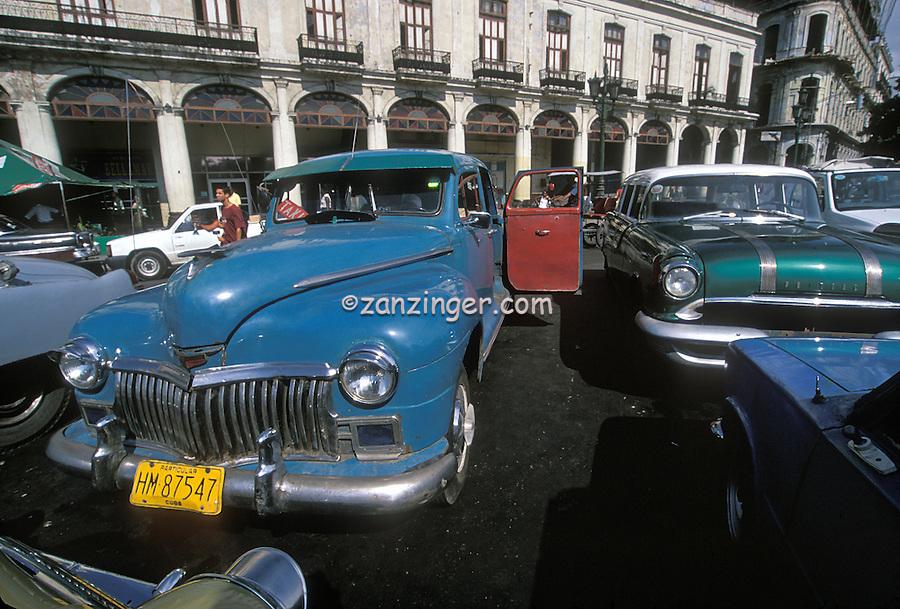 Classic American Cars 40's, 50's Havana Cuba, Republic of Cuba,