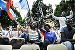 PARIS, FRANCE. AUGUST 23, 2011. Supporters of the French homeless team at the Homeless World Cup. Photo: Antoine Doyen
