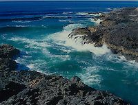 769550350 tidal action stirs up great waves and undertow at devils churn state park along the central oregon coast of the pacific ocean