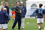 05 November 2008: North Carolina head coach Anson Dorrance (third from right). The University of North Carolina defeated the University of Miami 1-0 at Koka Booth Stadium at WakeMed Soccer Park in Cary, NC in a women's ACC tournament quarterfinal game.
