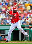 24 May 2009: Washington Nationals' starting pitcher Shairon Martis at bat against the Baltimore Orioles at Nationals Park in Washington, DC. The Nationals rallied to defeat the Orioles 8-5 and salvage one win of their interleague series. Mandatory Credit: Ed Wolfstein Photo