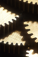 Close-up of gear teeth