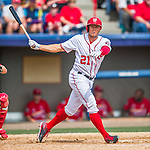 13 March 2016: Washington Nationals outfielder Matt den Dekker in action during a pre-season Spring Training game against the St. Louis Cardinals at Space Coast Stadium in Viera, Florida. The teams played to a 4-4 draw in Grapefruit League play. Mandatory Credit: Ed Wolfstein Photo *** RAW (NEF) Image File Available ***