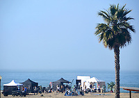 A film crew produce a Target comercial at Santa Monica Beach on Thursday, March 22, 2012