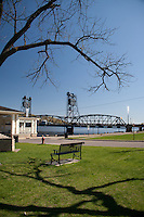 Selections from a day trip to Stillwater,--The Birthplace of Minnesota.  The waterfront on the St. Croix River is a popular tourist and local hangout. This vantage point shows the gazebo and historic lift bridge.