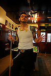 Fernando posing as Morrissey, Camden, London, January 2008
