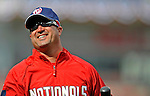 29 March 2008: Washington Nationals Field Manager Manny Acta smiles during batting practice prior to an exhibition game against the Baltimore Orioles at Nationals Park, in Washington, DC. The matchup was the first professional game played in the new ballpark, prior to the upcoming official opening day inaugural game. The Nationals defeated the Orioles 3-0...Mandatory Photo Credit: Ed Wolfstein Photo
