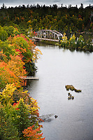 Early fall color along the Dead River in Marquette County, Michigan's Upper Peninsula.