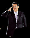Banri kaieda, Apr 03, 2012 : Japan's member of the House of Representatives Banri Kaieda attends the world premiere for the film &quot;Battleship&quot; in Tokyo, Japan, on April 3, 2012.The film will open on April 13 in Japan.