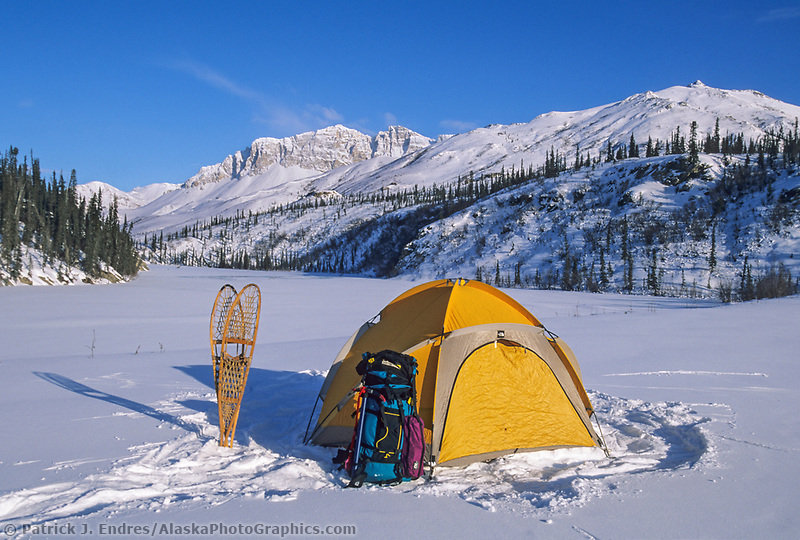 Winter camp, Brooks Range, Arctic, Alaska
