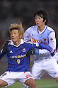 Masashi Oguro (F Marinos), Kazuya Yamamura (Antlers), MARCH 31, 2012 - Football / Soccer : 2012 J.LEAGUE Division 1 between Yokohama F Marinos 0-0 Kashima Antlers at NISSAN Stadium, Kanagawa, Japan. This game was celebrated as a 20th Anniversary Match involving two of the original teams that featured when the J.League launched. Traditionally one of the favourites, Kashima have not scored yet in their first 4 games of the season. (Photo by Atsushi Tomura /AFLO SPORT) [1035]