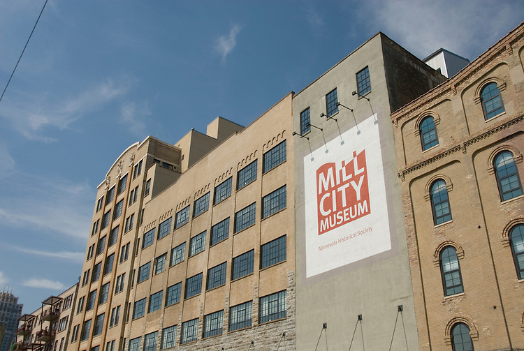 Minnesota, Twin Cities, Minneapolis-Saint Paul: Mill City Museum, showing flour milling history in Minneapolis..Photo mnqual249-75337..Photo copyright Lee Foster, www.fostertravel.com, 510-549-2202, lee@fostertravel.com.