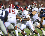 Alabama running back Jalston Fowler (45) runs in the third quarter vs. Ole Miss at Vaught-Hemingway Stadium in Oxford, Miss. on Saturday, October 14, 2011. Alabama won 52-7.