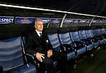 Calcio, Europa League Gruppo J: Lazio vs Tottenham Hotspur. Roma, stadio Olimpico, 22 novembre 2012..Lazio coach Vladimir Petkovic, of Bosnia, sits on the bench prior to the start of the Europa League Group J football match between Lazio and Tottenham Hotspur at Rome's Olympic stadium, 22 November 2012..UPDATE IMAGES PRESS/Riccardo De Luca