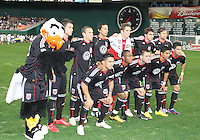 Starting eleven and Talon of D.C. United during an MLS match against the New England Revolution on April 3 2010, at RFK Stadium in Washington D.C.