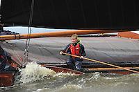 SKÛTSJESILEN: WOUDSEND: 27-07-2015, SKS kampioenschap 2015, ©foto Martin de Jong