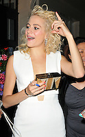Victoria Louise &quot;Pixie&quot; Lott departs from the stage door after the &quot;Breakfast at Tiffany's&quot; evening performance, Theatre Royal Haymar ket, Suffolk Street, London, England, UK, on Friday 29 July 2016.<br /> CAP/CAN<br /> &copy;CAN/Capital Pictures /MediaPunch ***NORTH AND SOUTH AMERICAS ONLY***