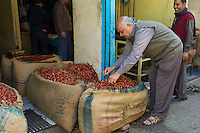 Red chillies for sale at Khari Baoli spice and dried foods market, Old Delhi, India