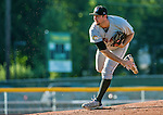 1 September 2014: Tri-City ValleyCats pitcher Austin Chrismon on the mound against the Vermont Lake Monsters at Centennial Field in Burlington, Vermont. The ValleyCats defeated the Lake Monsters 3-2 in NY Penn League action. Mandatory Credit: Ed Wolfstein Photo *** RAW Image File Available ****