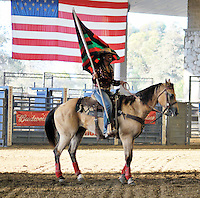 CITY OF INDUSTRY, CA - JULY 16: Cowgirl attends the 32nd Annual Bill Pickett Invitational Rodeo Rides, Southern California at The Industry Hills Expo Center in the City of Industry on July 16, 2016 in the City of Industry, California. Credit: Koi Sojer/Snap'N U Photos/MediaPunch