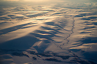 Rivers wind through the foothills on the north side of the Brooks Range between Umiat and Fairbanks on Friday, March 8, 2013.