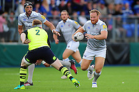 Ross Batty of Bath Rugby in possession. Pre-season friendly match, between Leinster Rugby and Bath Rugby on August 26, 2016 at Donnybrook Stadium in Dublin, Republic of Ireland. Photo by: Patrick Khachfe / Onside Images