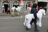 4/10/2010. Main St Ballinasloe during the horse Fair. Ballinasloe, County Galway, Ireland.. Picture James Horan