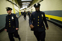 29 December 2005 - New York City, NY - Newly sworn in police officers leave the Madison Square Garden after graduating with the NYPD Class of 2005, December 29, 2005, in New York City. 1,735 new police officers were sworn in during the ceremony.