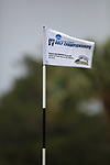 HOWEY IN THE HILLS, FL - MAY 19: A championship flag blows in the wind during the Division III Men's Golf Championship held at the Mission Inn Resort and Club on May 19, 2017 in Howey In The Hills, Florida. (Photo by Cy Cyr/NCAA Photos via Getty Images)