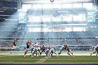 ARLINGTON, TX - OCTOBER 23:   Quarterback Tony Romo #9 of the Dallas Cowboys throws a pass against the St. Louis Rams at the Cowboy Stadium on October 23, 2011 in Arlington, Texas.  The Cowboys defeated the Rams 34 to 7.  (Photo by Wesley Hitt/Getty Images) *** Local Caption *** Tony Romo