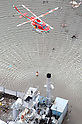 Helicopter Relief comes to Wakabayashi-ku, Sendai, Miyagi Prefecture at 7.13am on March 12th 2011. A huge M8.9 earthquake hit Japan on Friday 11th March, 2011 followed by a giant tsunami causing death and destruction