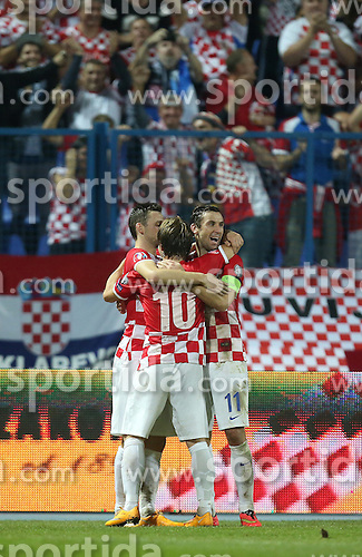 13.10.2014, Stadion Gradski vrt, Osijek, CRO, UEFA Euro Qualifikation, Kroatien vs Aserbaidschan, Gruppe H, im Bild Marcelo Brozovic // during the UEFA EURO 2016 Qualifier group H match between Croatia and Azerbaijan at the Stadion Gradski vrt in Osijek, Croatia on 2014/10/13. EXPA Pictures &copy; 2014, PhotoCredit: EXPA/ Pixsell/ Igor Kralj<br /> <br /> *****ATTENTION - for AUT, SLO, SUI, SWE, ITA, FRA only*****