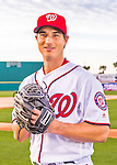 28 February 2016: Washington Nationals pitcher Michael Brady poses for his Spring Training Photo-Day portrait at Space Coast Stadium in Viera, Florida. Mandatory Credit: Ed Wolfstein Photo *** RAW (NEF) Image File Available ***