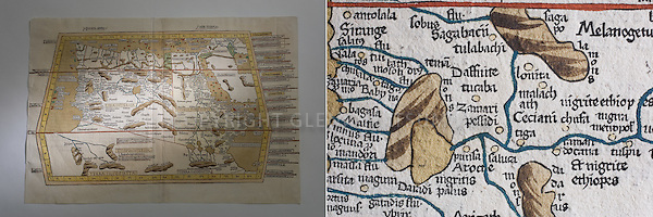 African map and detail. Stanford Archives