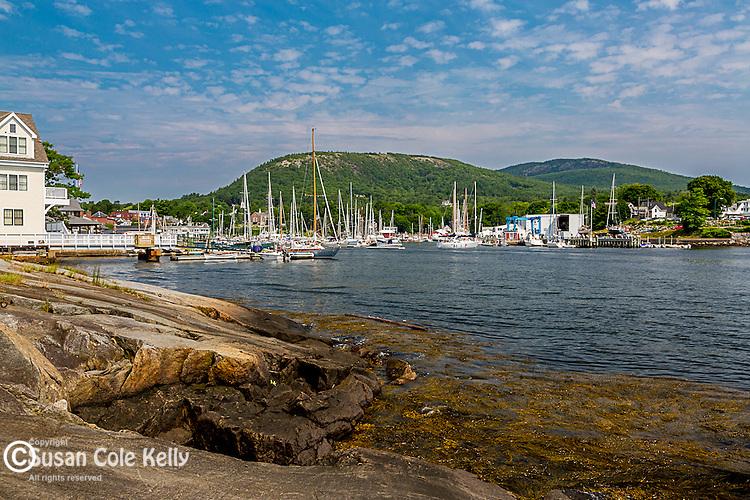Camden Harbor in Camden, Maine, USA