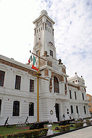 The Faro Carranza in the city of Veracruz, Mexico. Revolutionary leader Venustiano Carranza lived in this lighthouse during the 1914-1915 Mexican Revolution. The 1917 Mexican constution was also drafted here. The complex now houses naval offices.
