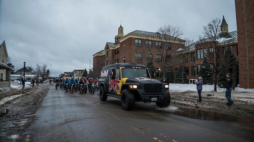 906 Polar Roll winter bike race in Marquette, Michigan.