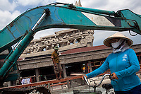 Construction continues on a monument dedicated to fallen soldiers in Ho Chi Minh City...Kevin German / LUCEO